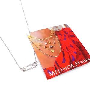 Melinda Maria Silver Safety Pin Pendant Necklace